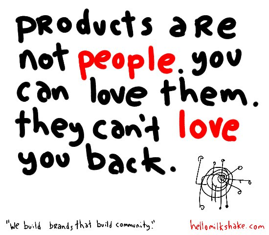 Products are not people
